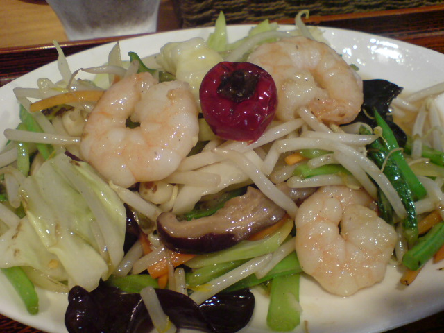 海老野菜炒め